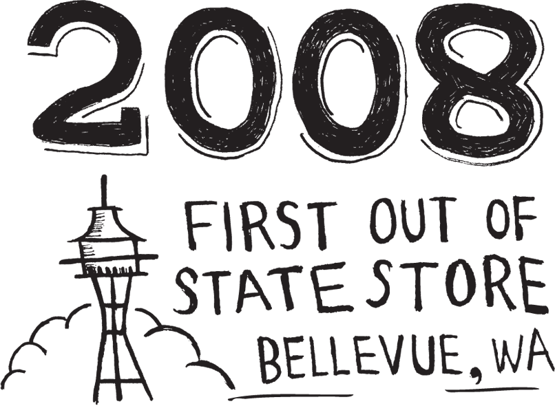 2008, first out of state store, bellevue, wa