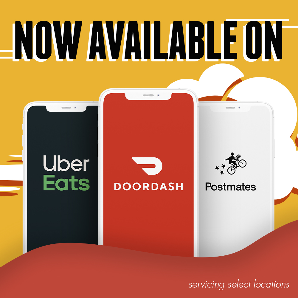 Now delivering with Uber Eats, Postmates, and Doordash